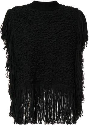 Sonia Rykiel fringed knit poncho