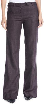 Kiton Wide-Leg Cashmere-Blend Pants