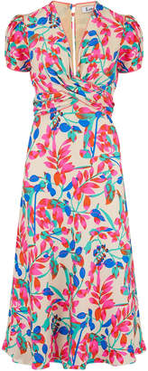 Libelula Millie Dress Tropical Silk Print Cream