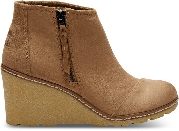 Toffee Microfiber Women's Avery Booties