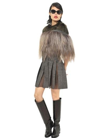Marni Beaver And Kidassia Fur Cape