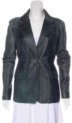 Gianni Versace Vintage Leather Blazer w/ Tags