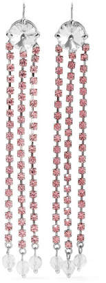 Miu Miu Silver-tone Crystal Earrings