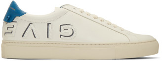Givenchy Off-White and Blue Reverse Urban Knots Sneakers