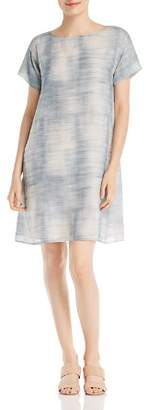 Eileen Fisher Brush-Print Shift Dress