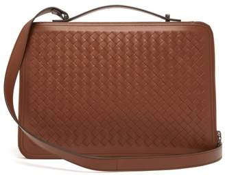 68922e0b46ec Bottega Veneta Intrecciato Leather Pouch - Mens - Brown
