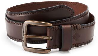Columbia Men's Stitched Bridle Leather Belt