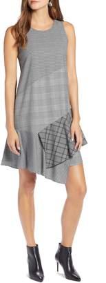 Halogen Sleeveless Plaid Mix A-Line Dress