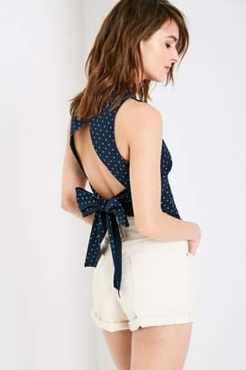 Jack Wills Laumann Printed Halter Tie Back Shirt