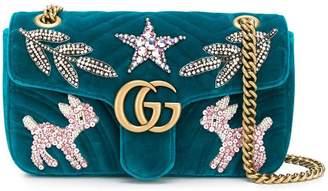 Gucci GG Marmont embellished shoulder bag