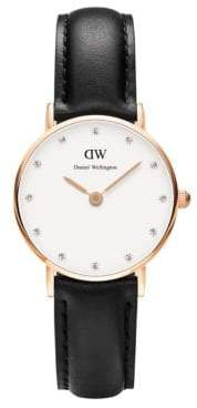 Daniel Wellington Classy Sheffield Rose Gold and Leather Strap Watch, 26mm $149 thestylecure.com