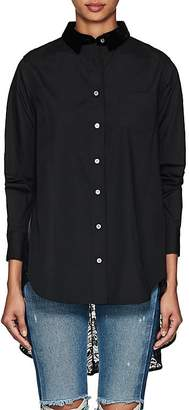 Sacai Women's Cotton Poplin & Lace Blouse