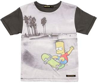 Finger In The Nose Bart Skate Park Print Jersey T-Shirt