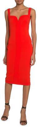 Victoria Beckham Sweetheart Bodycon Midi Dress