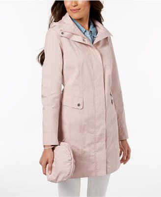 Cole Haan Petite Packable Raincoat