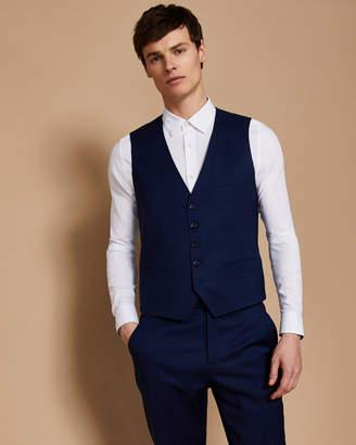 Ted Baker CASTLEW Slim fit plain wool waistcoat