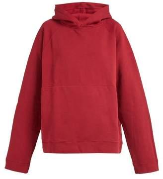 Katharine Hamnett London - Rick Oversized Cotton Jersey Hooded Sweatshirt - Womens - Red