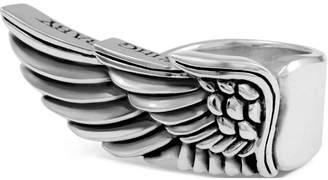 King Baby Studio Men's Winged Ring in Sterling Silver