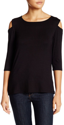 Loveappella Cold Shoulder Tee (Petite) $69 thestylecure.com