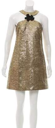 Milly Sleeveless Textured Mini Dress