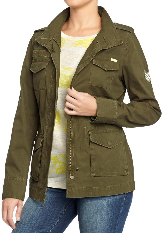 Old Navy Women's Zip-Front Military Jackets