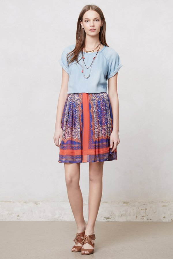 Anthropologie Canela Panel Skirt