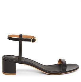 Mansur Gavriel Leather Ankle Strap Heel Sandal