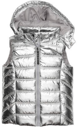 H&M Padded Vest with Hood - Silver