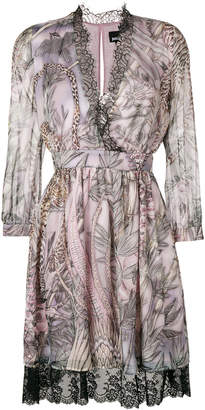 Just Cavalli printed lace trim dress