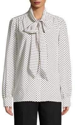 5f99fbcb41d98 Marc By Marc Jacobs Tie Neck Blouse - ShopStyle