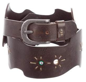 Henry Beguelin Embellished Leather Belt