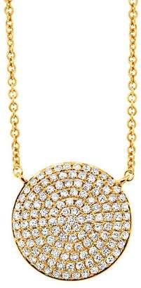Ron Hami 14K Yellow Gold Diamond Circle Pendant Necklace - 0.37 ctw