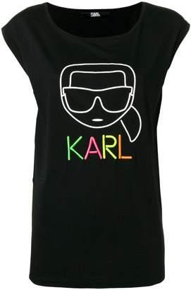 Karl Lagerfeld Paris sleeveless logo top