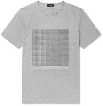 Theory Color Field Slim-Fit Flocked Melange Cotton-Jersey T-Shirt - Men - Gray