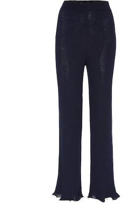 Stella McCartney Ribbed wool trousers