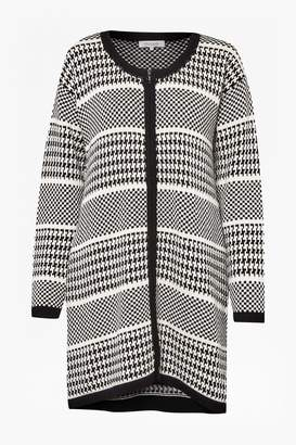 Great Plains Ginny Oversized Houndstooth Cardigan