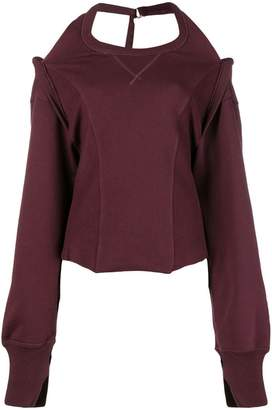 Diesel halter neck oversized sweatshirt