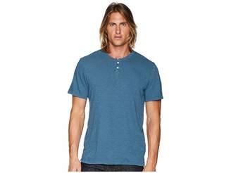 Joe's Jeans Wintz Short Sleeve Slub Henley Men's Clothing