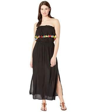 Bleu Rod Beattie Fringe Benefits Bandeau Maxi Dress Cover-Up