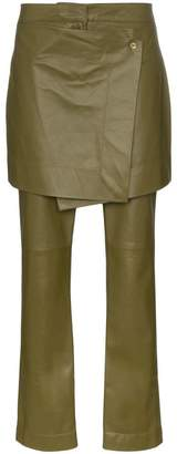 Sies Marjan Judy apron front leather trousers