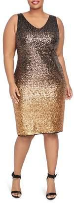 Rachel Roy Plus Karine Ombré Sequined Dress