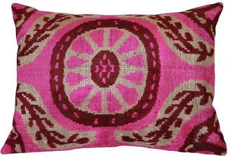 Orientalist Home Ines Ikat 16x24 Pillow - Pink