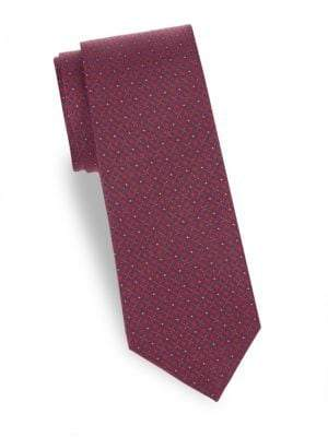 Saks Fifth Avenue Flower Silk Tie