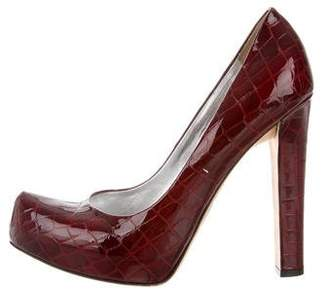 DSQUARED2 Embossed Patent Leather Platform Pumps