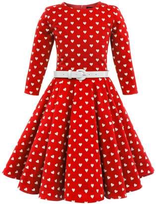Chloé BlackButterfly Kids 'Chloe' Vintage Hearts 50's Dress (, 13-14 YRS)