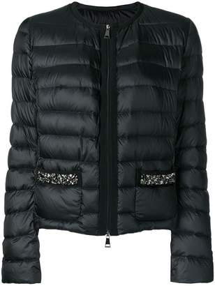 5c7140362 Moncler Blue Fitted Women's Jackets - ShopStyle