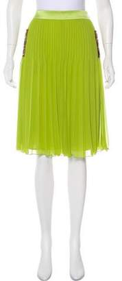 Just Cavalli Embellished Pleated Skirt w/ Tags