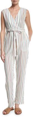 Miguelina Alexa Striped V-Neck Jumpsuit