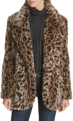 Smythe Leopard Print Faux Fur Coat