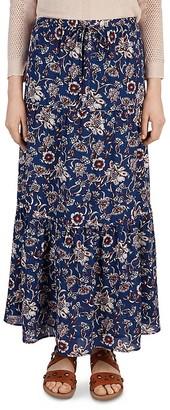 Gerard Darel Jina Floral Print Maxi Skirt $245 thestylecure.com